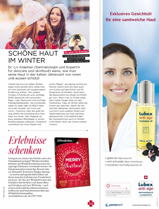 Gala Schweiz Dr. Liv Beauty Expert Skin Care